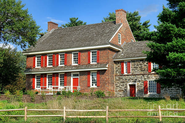 Continental Army Photograph - Whitall House by Olivier Le Queinec