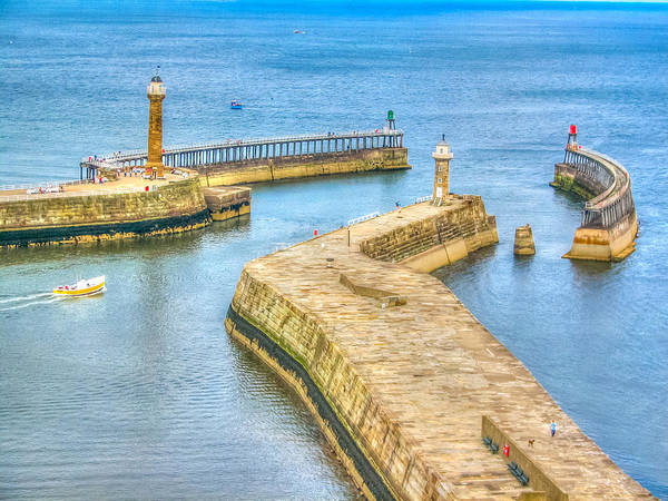Photograph - Whitby Harbour Walls by Susan Leonard