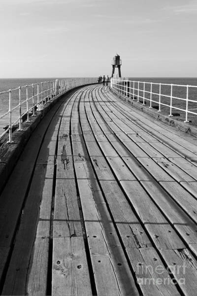 Photograph - Whitby Pier Yorkshire England Uk by Julia Gavin