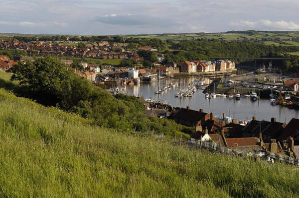 Alfresco Wall Art - Photograph - Whitby Town & Harbour, North Yorkshire by Tips Images
