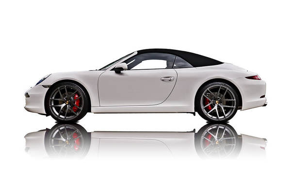 Speed Wall Art - Digital Art - White 911 by Douglas Pittman