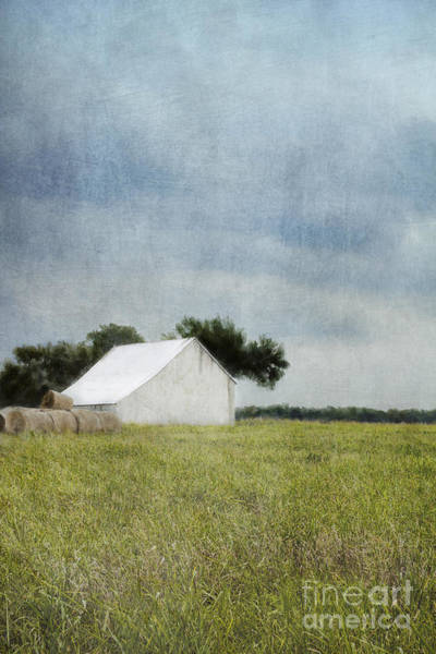 Wall Art - Photograph - White Barn by Elena Nosyreva