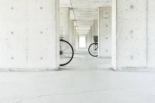 Bicycle Photograph - White Basket,black Basket by Keisuke Ikeda @