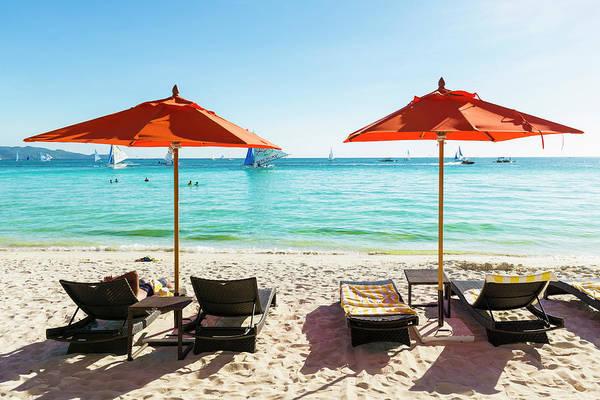 Sunshade Photograph - White Beach, Boracay, Philippines by John Harper