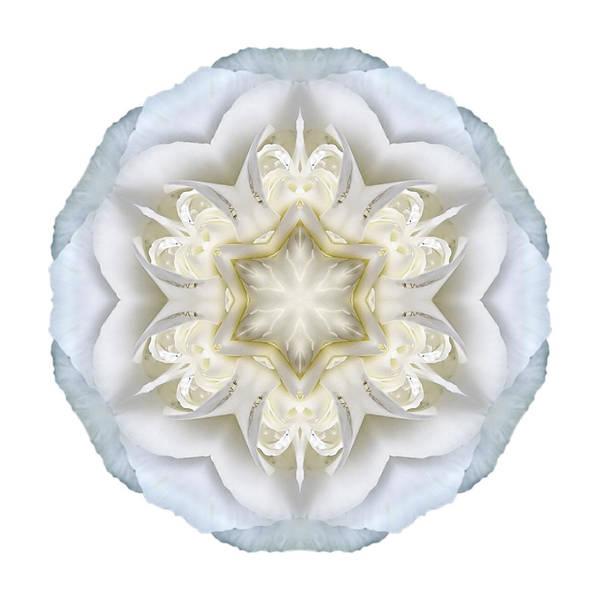 Photograph - White Begonia II Flower Mandala White by David J Bookbinder