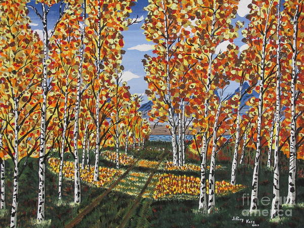 Wall Art - Painting - White Birch Reservoir  by Jeffrey Koss