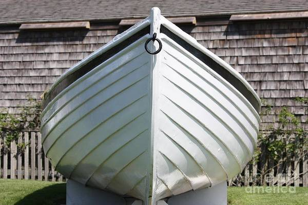 Photograph - White Boat In Edgartown by Carol Groenen