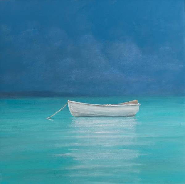 Daylight Painting - White Boat Kilifi  by Lincoln Seligman