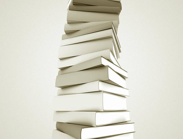 Wall Art - Photograph - White Books In A Stack by Jesper Klausen / Science Photo Library