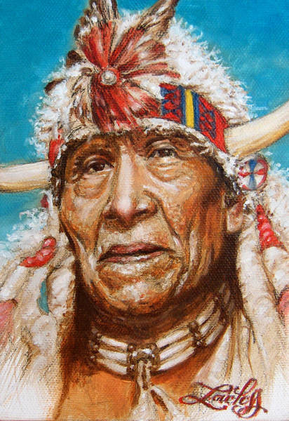 Sioux Wall Art - Painting - White Buffalo by James Loveless