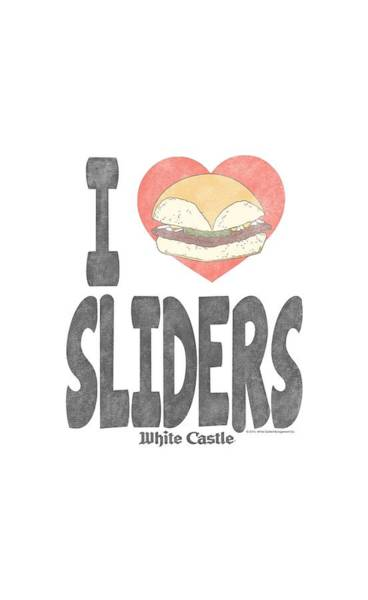Father Digital Art - White Castle - I Heart Sliders by Brand A