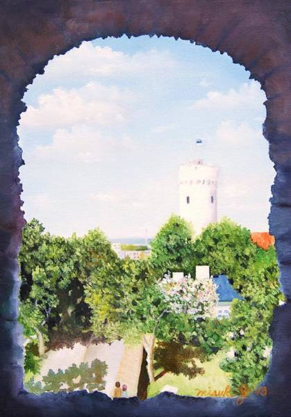 Baltic Sea Painting - White Castle In Tallinn Estonia by Misuk Jenkins