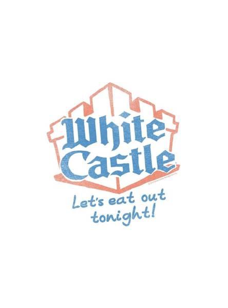 Novelty Digital Art - White Castle - Lets Eat by Brand A