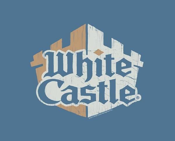 Novelty Digital Art - White Castle - Torn Logo by Brand A