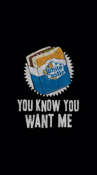 Burger Wall Art - Digital Art - White Castle - Want Me by Brand A