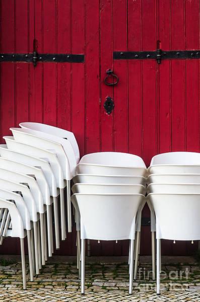 Wall Art - Photograph - White Chairs by Carlos Caetano