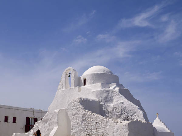 Photograph - White Church In Mykonos by Brenda Kean