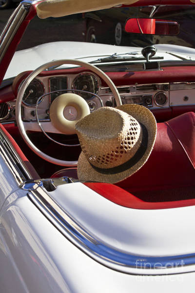 Photograph - White Classic Mercedes Benz 230 Sl by Heiko Koehrer-Wagner