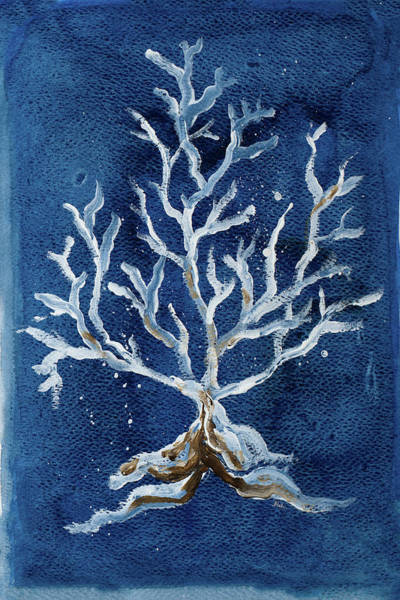 Wall Art - Painting - White Corals II by Patricia Pinto