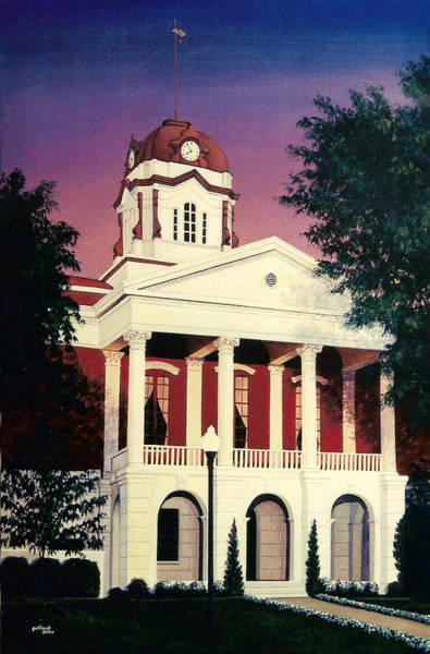 Painting - White County Courthouse by Glenn Pollard