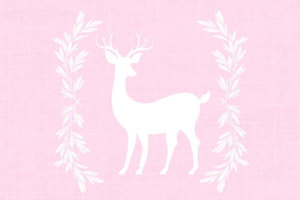 Christmas Card Digital Art - White Deer by Chastity Hoff