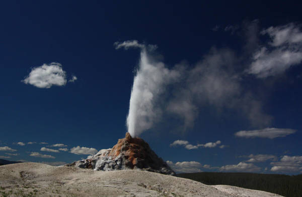 White Dome Geyser In Yellowstone National Park Art Print