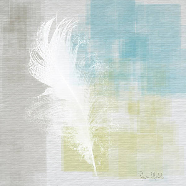 Wall Art - Painting - White Feather Abstract I by Ramona Murdock