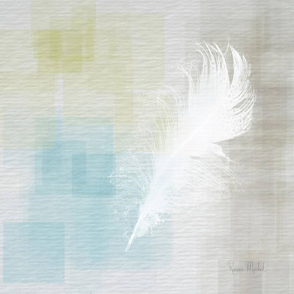 Wall Art - Painting - White Feather Abstract II by Ramona Murdock