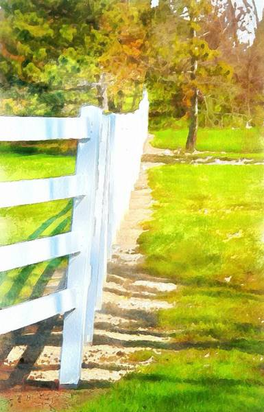 White Picket Fence Painting - White Fence In Summer by Dan Sproul