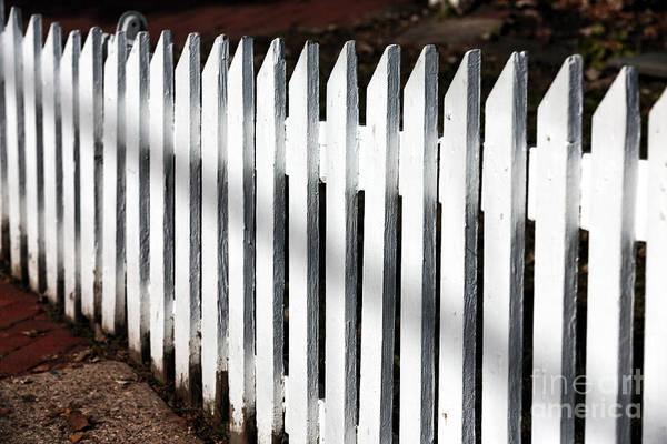 Photograph - White Fence by John Rizzuto