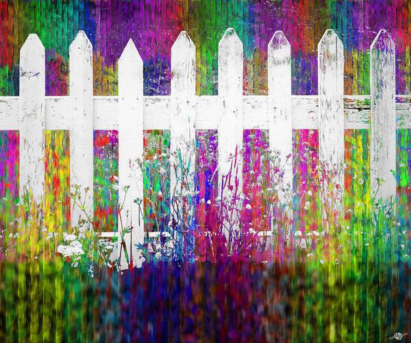 Neighborhood Painting - White Fence Large by Tony Rubino