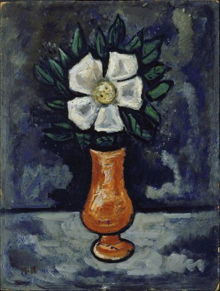 Central America Painting - White Flower by Marsden Hartley