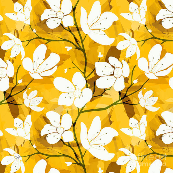 Fill Digital Art - White Flowers Of Early Summer by Peter Awax