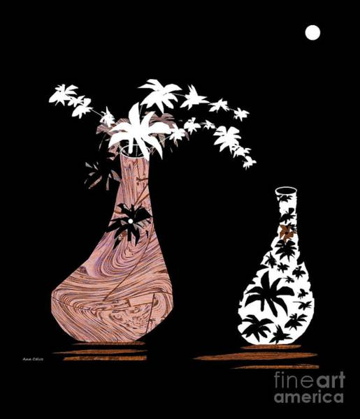 Mixed Media - White Flowers by Ann Calvo