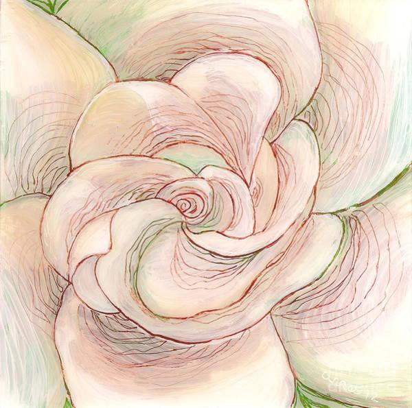 Painting - White Gardenia 1 by Anna Skaradzinska
