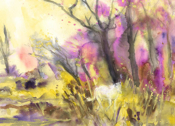 Painting - White Horse In The Camargue 02 by Miki De Goodaboom