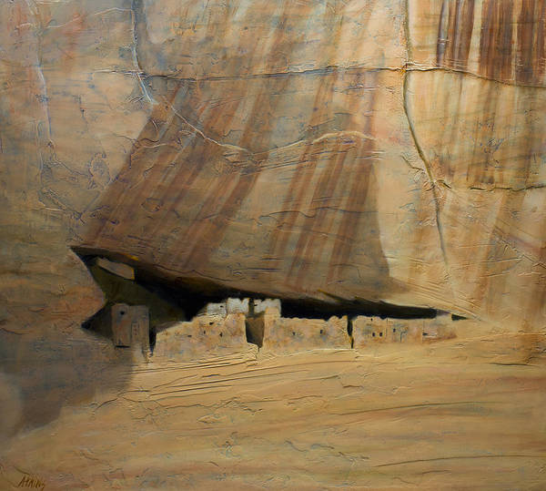 Anasazi Painting - White House by Jack Atkins