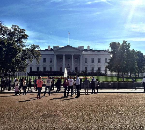 Politicians Wall Art - Photograph - White House Protest by Brandon McCain