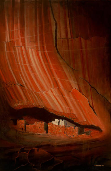 Anasazi Painting - White House Ruins Illuminated by Jerry McElroy