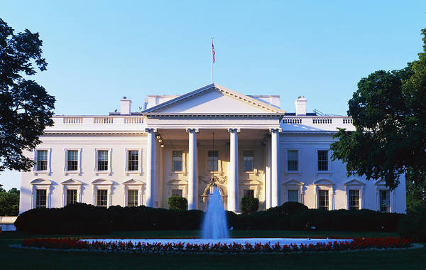 White House Photograph - White House Washington Dc by Panoramic Images