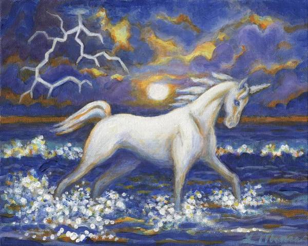 Lightening Painting - White Lightening by Linda Mears