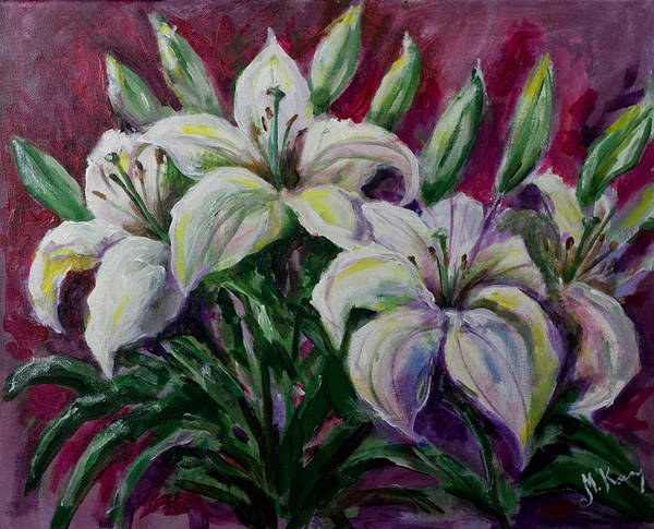 Painting - White Lilies by Maxim Komissarchik