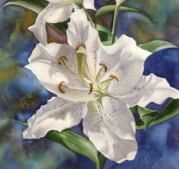 Painting - White Lily by Alfred Ng