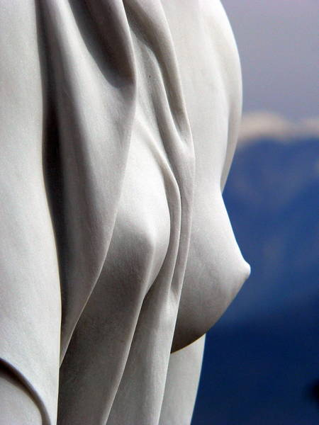 Photograph - White Marble Breasts by Jeff Lowe