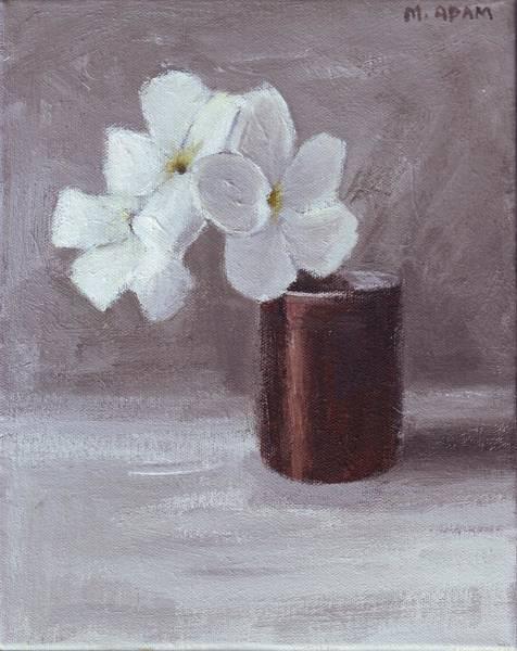 Trinidad Drawing - White by Mary Adam