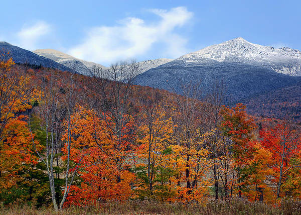 Complementary Colours Photograph - White Mountains - Autumn To Winter by Nikolyn McDonald