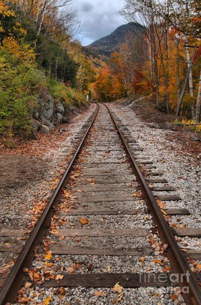 Photograph - White Mountains Railroad Tracks by Adam Jewell