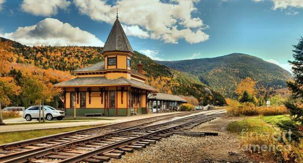 Photograph - White Mountans Crawford Train Depot by Adam Jewell