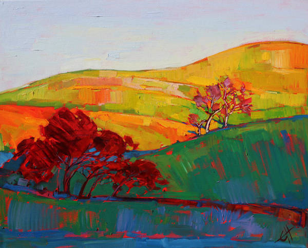 California Wine Country Painting - White Oak by Erin Hanson