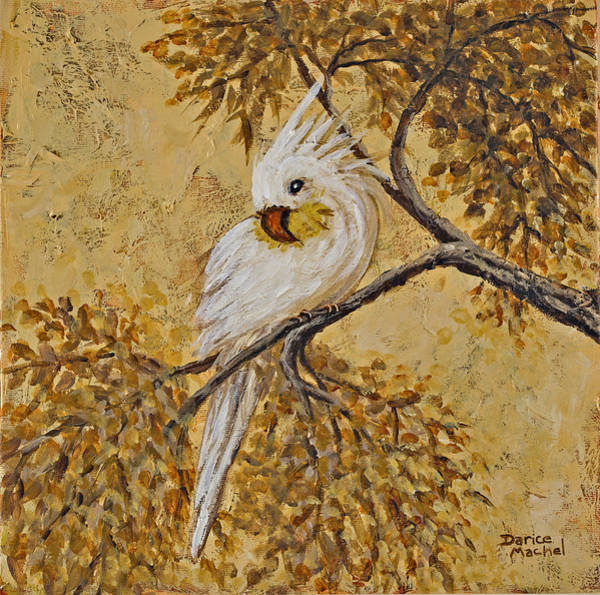 Painting - White Parrot  by Darice Machel McGuire